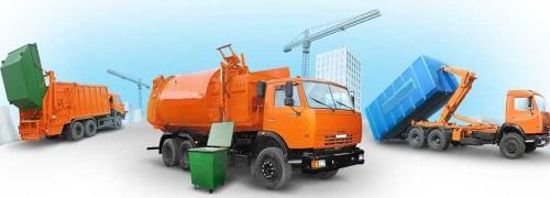 В распоряжении компании — машины для вывоза всех видов бункеров и контейнеров